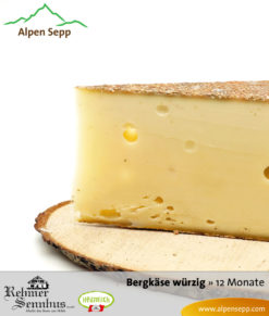 12-month-old spicy mountain cheese by Alpen Sepp