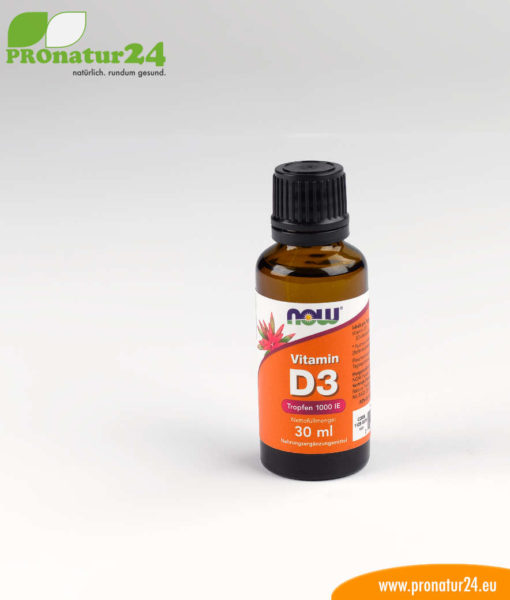 VITAMIN D3 1000 IE DROPS by NOW FOODS. Ideal for the less sunny winter!