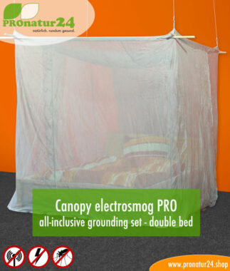 Canopy electrosmog PRO all-inclusive grounding set - double bed