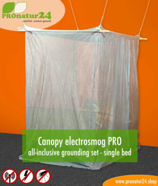 Canopy electrosmog PRO all-inclusive grounding set - single bed