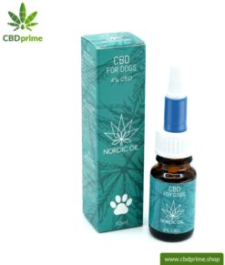 CBD HEMP OIL for DOGS and PUPPIES. Positive effect for dogs with 4% CBD proportion. Without THC. Biologically produced by Nordic Oil.
