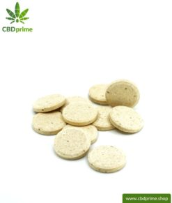 CBD TREATS for DOGS and PUPPIES. Feed supplement in the form of tablets for dogs. 176 mg CBD in 55 lozenges. Without THC.