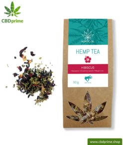 CBD hemp tea with hibiscus, 50 grams with 0.6% cannabidiol share