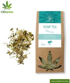 CBD hemp tea with lemongrass