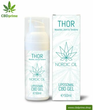 THOR CBD Gel. Liposomal CBD gel for muscles, joints and tendons. Also ideal for on the way!